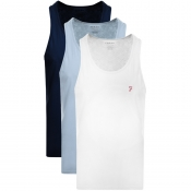 Product Image for Farah Vintage Vestire 3 Pack Vest T Shirts Navy